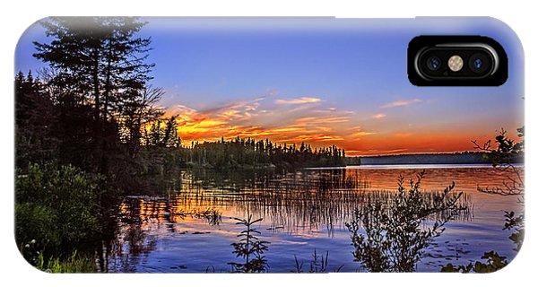 iPhone Case - Sunset At The Waskesiu Lake by Viktor Birkus
