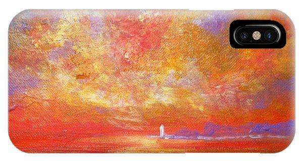 Sunset At Wingershaek Beach IPhone Case