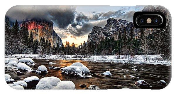 Sunset At Yosemite Valley IPhone Case