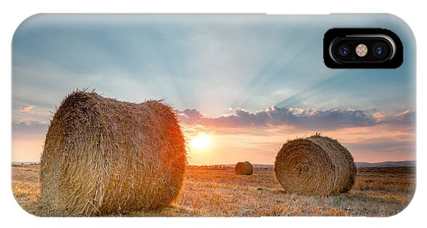 Sunset Bales IPhone Case