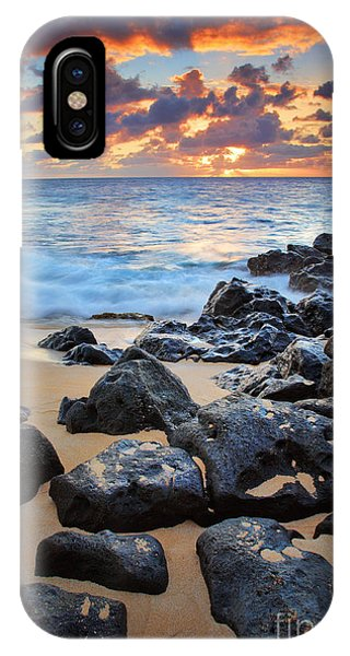 Orange Sunset iPhone Case - Sunset Beach by Inge Johnsson