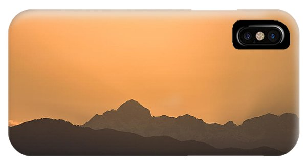 Sunset Behind The Julian Alps IPhone Case