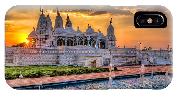Sunset Behind The Mandir IPhone Case