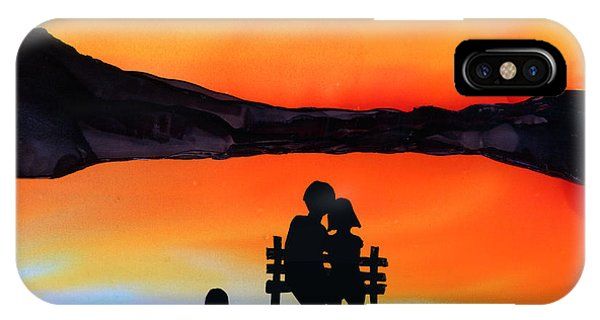 Sunset Bench IPhone Case