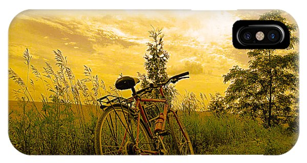 Sunset Biking IPhone Case