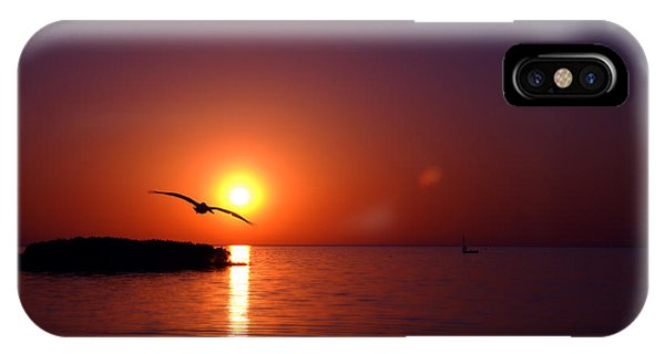 Sunset Blue IPhone Case