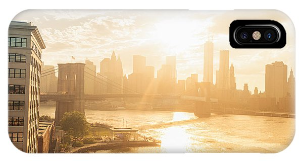 City Sunset iPhone Case - Sunset - Brooklyn Bridge - New York City by Vivienne Gucwa