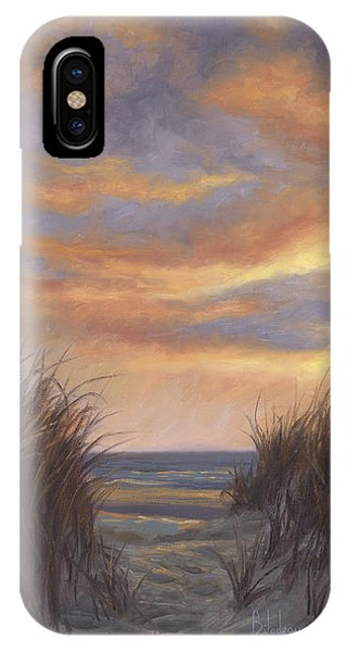 Scenery iPhone Case - Sunset By The Beach by Lucie Bilodeau