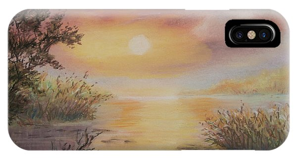 Sunset By The Lake IPhone Case