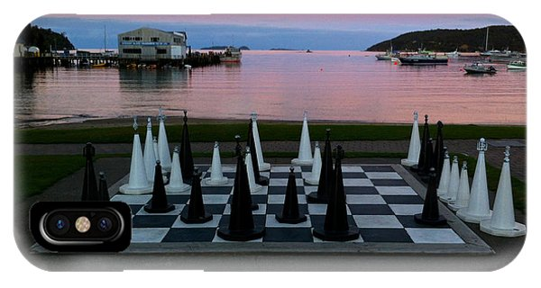Sunset Chess At Half Moon Bay IPhone Case