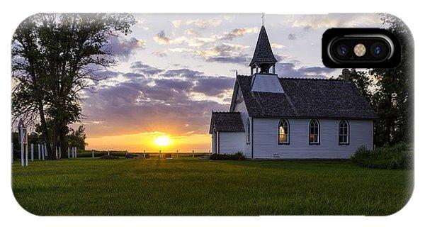 Sunset Church IPhone Case
