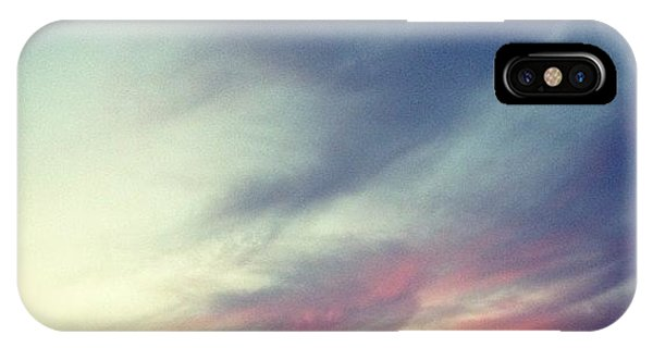 Blue iPhone Case - Sunset Clouds by Christy Beckwith