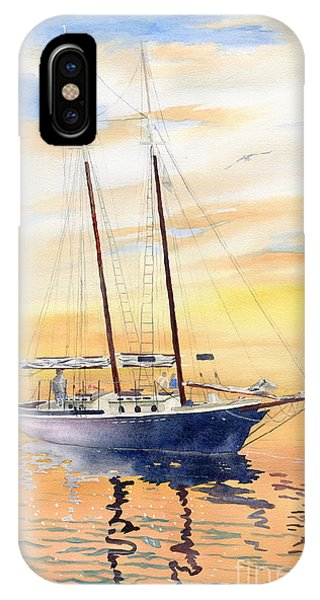 Regatta iPhone Case - Sunset Cruise by Melly Terpening