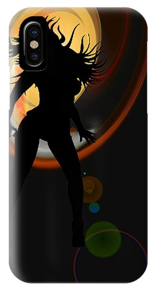 Having Fun iPhone Case - Sunset Dancer by Brainwave Pictures