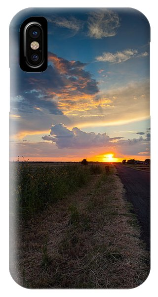 Sunset Down A Country Road IPhone Case