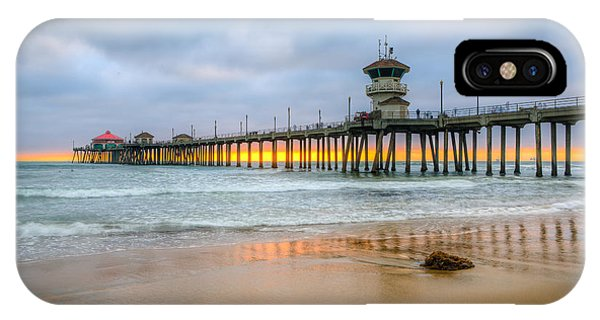 Sunset Drifting Under The Pier IPhone Case