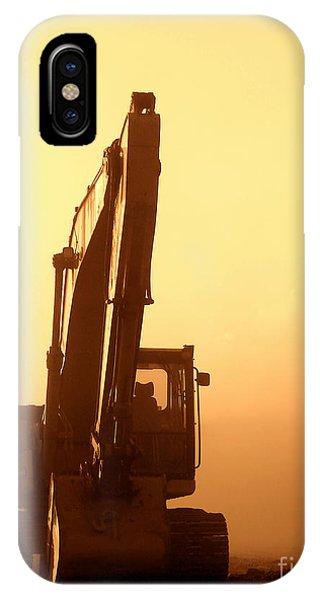 Sunset Excavator IPhone Case