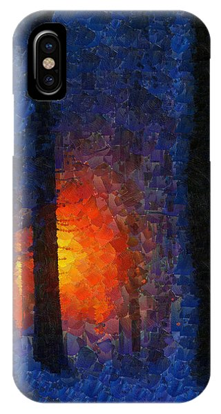 Sunset Forest Winter IPhone Case