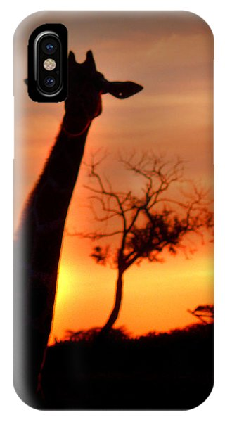 Sunset Giraffe IPhone Case