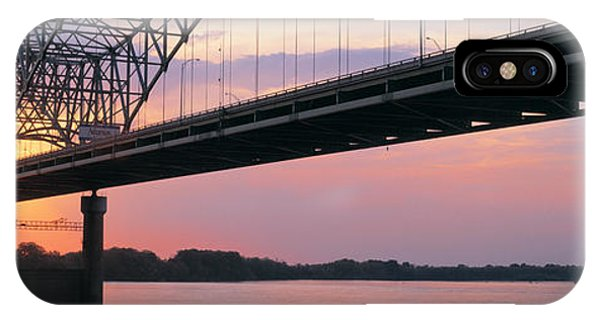 Mississippi River iPhone Case - Sunset, Hernandez Desoto Bridge And by Panoramic Images