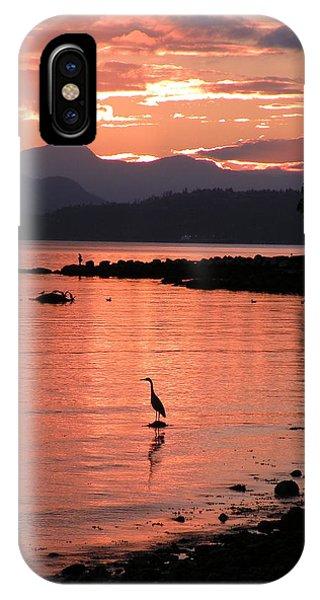 Sunset Heron IPhone Case