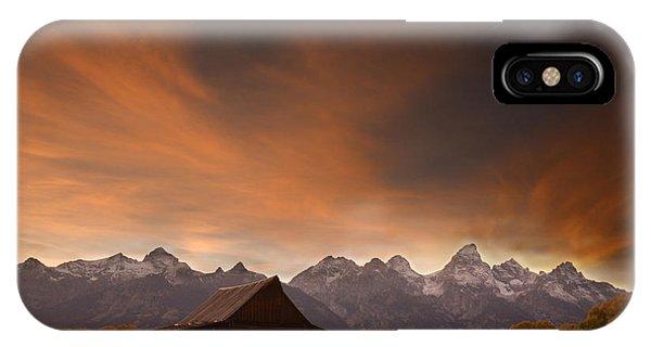 Sunset II At The Thomas Moulton Barn IPhone Case