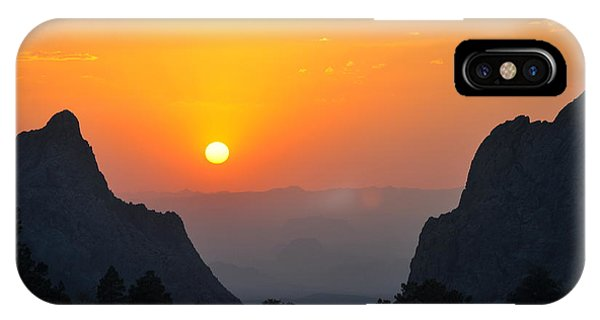 Sunset In Big Bend National Park IPhone Case
