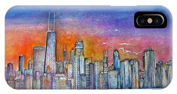 Sunset In Chi Town IPhone Case