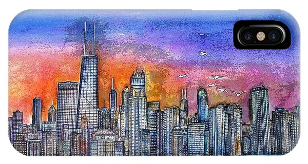 Sunset In Chicago IPhone Case