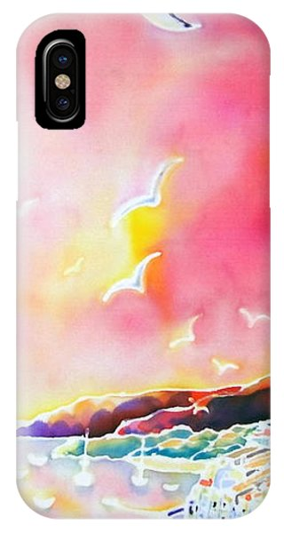 iPhone Case - Sunset In Costa Brava by Hisayo Ohta