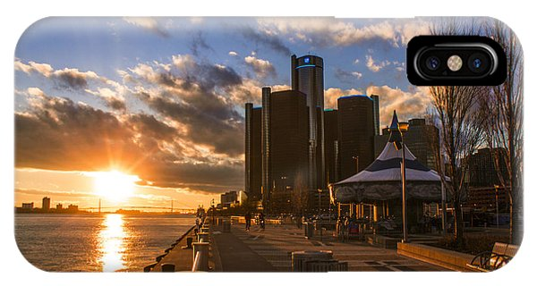 Sunset In Detroit  IPhone Case