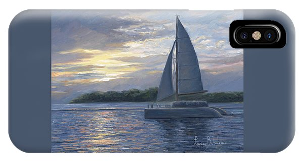 Sailboat iPhone Case - Sunset In Key West by Lucie Bilodeau