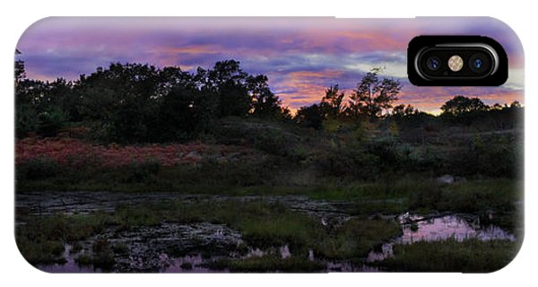 Sunset In Purple Along Highway 7 IPhone Case