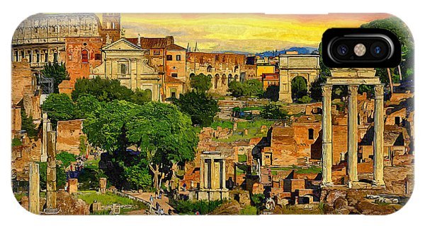 Ancient Rome iPhone Case - Sunset In Rome by Stefano Senise