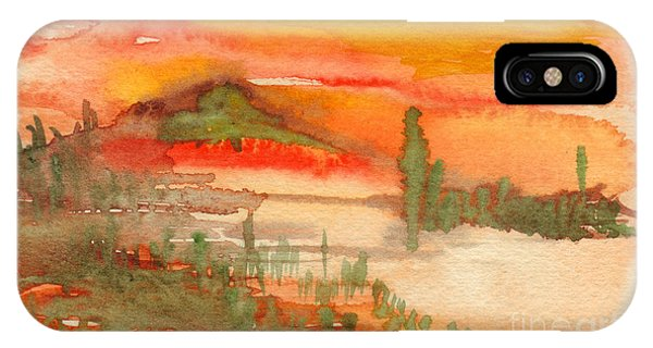 Sunset In Saguaro Desert  IPhone Case