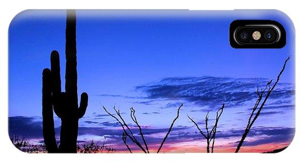 Sunset In Saguaro National Park Phone Case by Elizabeth Budd