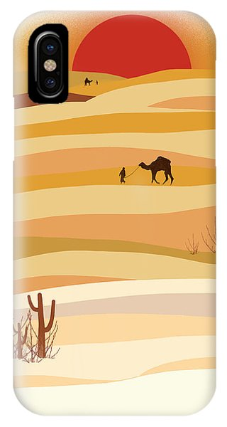 Desert iPhone Case - Sunset In The Desert by Neelanjana  Bandyopadhyay
