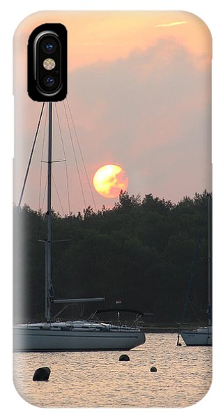 Sunset In The Port IPhone Case