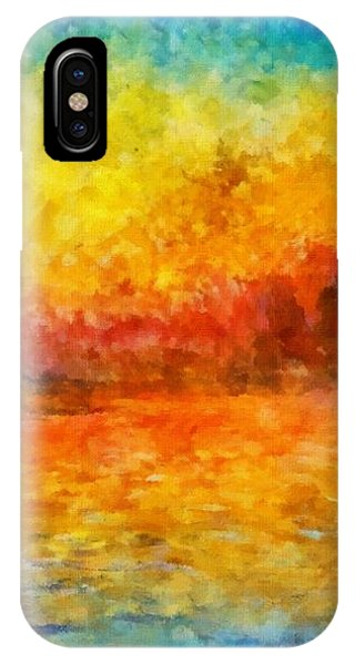 IPhone Case featuring the painting Sunset In Venice by Claude Monet