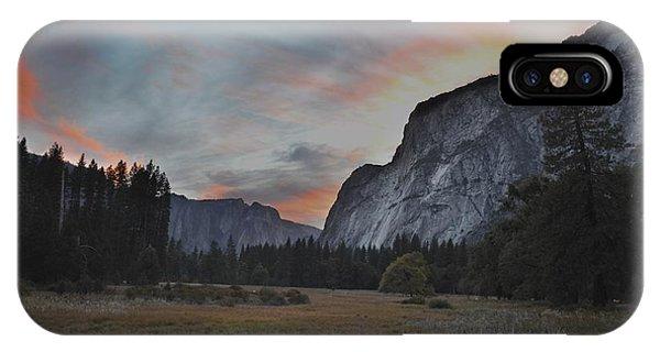 Sunset In Yosemite Valley IPhone Case