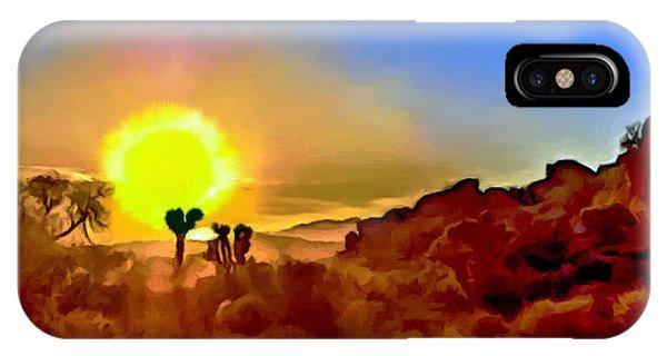 Sunset Joshua Tree National Park V2 IPhone Case