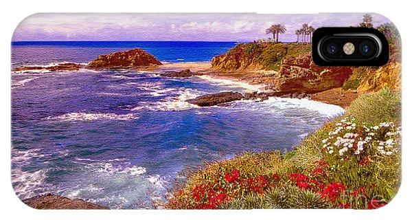 Laguna Beach iPhone Case - Sunset Laguna Beach California by Bob and Nadine Johnston