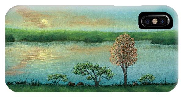 Sunset Lake B IPhone Case