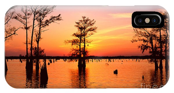 Sunset Lake In Louisiana IPhone Case