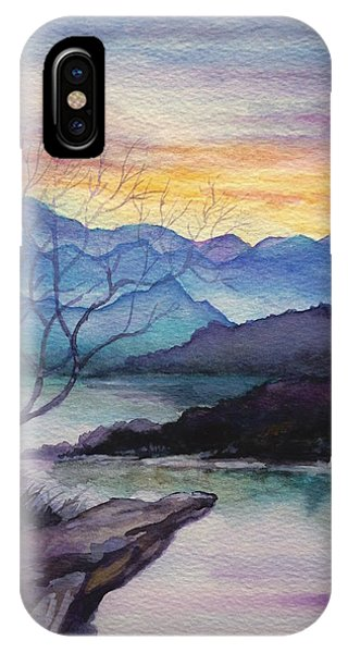 Sunset Montains IPhone Case