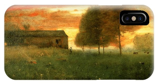 Fury iPhone Case - Sunset, Montclair, 1892 by George Snr. Inness