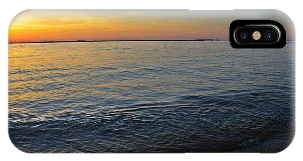 Chesapeake Bay iPhone X Case - Sunset Near Chesapeake Bay Bridge by Marianna Mills