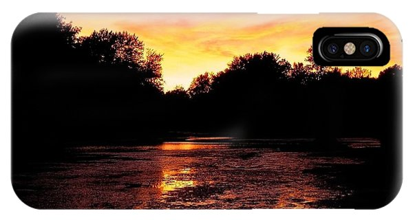 Sonne iPhone Case - Sunset Near Rosemere - Qc by Juergen Weiss