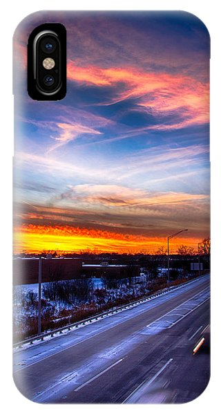 Sunset North Of Chicago 12-12-13 IPhone Case