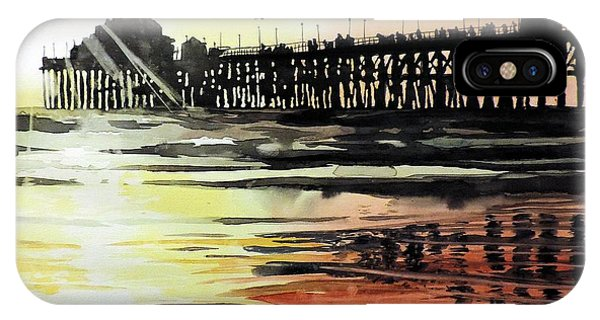 Sunset Oceanside Pier IPhone Case
